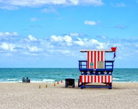 Red, White and Ocean BLUE